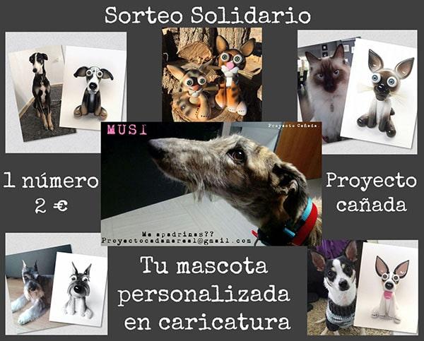 SORTEO Mascota en Caricatura + Camiseta solidaria
